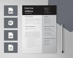 Editable Resume Template Beauteous Resume Templates For Word CV Design CV Template Teacher Etsy