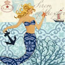 Portfolio Canvas Decor 'Mermaid Blonde' Jennifer Brinley 12-inch x 12-inch  Wrapped Canvas Wall Art - Free Shipping Today - Overstock.com - 17621406
