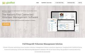Volunteer Tracking Management Software For Nonprofits Giveffect