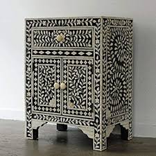 bone inlay nightstand. Unique Bone Floral Bone Inlay Bedside Table Handmade Furniture Inside Nightstand E