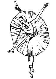 Kleurplaat Ballerina Balet Afb 9347 Images