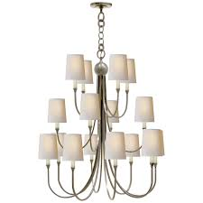 reed extra large chandelier in antique nickel wi