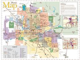 phoenix map  maps phoenix (arizona  usa)