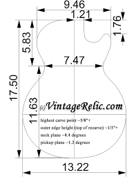 Image Result For Les Paul Body Dimensions In 2019 Guitar