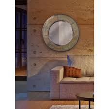 Round Steel Framed Mirror