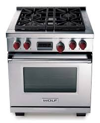 wolf 30 inch single oven range stainless steel dual fuel df304