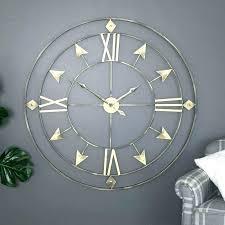 huge metal wall clock extra large skeleton style roman numeral retro vintage gift kids room wallpaper