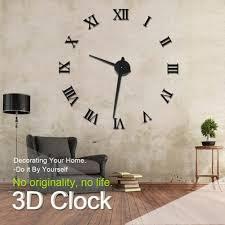 whole modern design diy 3d big wall clock home decor quartz for huge wall clocks