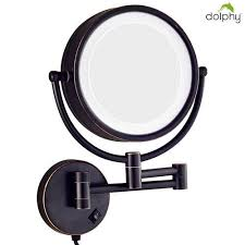 5x led brass magnifying mirror