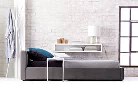 modern upholstered bed. View In Gallery A Modern Upholstered Plush Bed