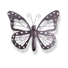 Black Iron Wall Decor Butterfly Garden Metal Outdoor Wall Decor