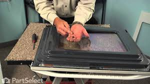range repair replacing the inner oven door glass whirlpool part 8053948 you