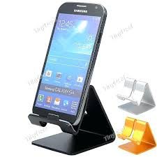 artsondesk modern cell phone stand stainless steel satin within cell phone stands for desk decorating