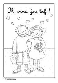Kleurplaat Jules Valentijn Jules Knutselen Thema Valentijn
