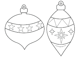 Coloring Pages Printable Free Christmas Ornaments Ornament Sheets