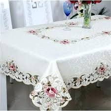 decorative 20 round tablecloth post table with glass top and