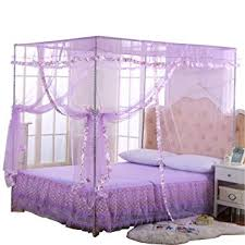 JQWUPUP Mosquito Net for Bed - 4 Corner Canopy for Beds, Canopy Bed Curtains, Bed Canopy for Girls Kids Toddlers Crib, Bedroom Decor (Twin Size, ...