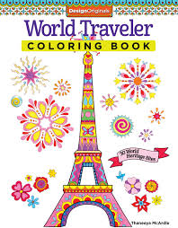 Small Picture World Traveler Coloring Book 30 World Heritage Sites Coloring Is