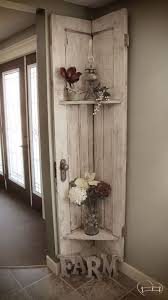 ... Farm Life Best Life turned her old barn door into a stunning, rustic  shelf with Chocolate Tart, Vanilla Frosting, and Crackle Medium! home decor  ideas