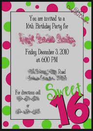 16th Birthday Party Invitations Templates Free Vaydileforic Teenage