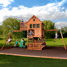 ... Backyard Discovery Playsets - Skyfort II Wooden Swing Set ...
