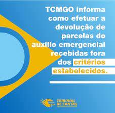Orientações para devolução dos recursos do Auxílio Emergencial – Tribunal  de Contas dos Municípios do Estado de Goiás