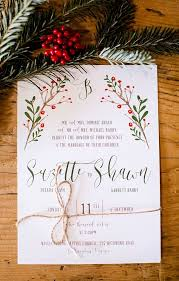 White Christmas Invitations Christmas Wedding Invitations Rustic Red And White Christmas Wedding
