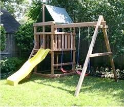 swing set kits simple wooden simple wooden swing set wild best plans ideas on sets home