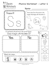 It's easy to use our preschool phonics. Free Letter S Phonics Worksheet For Preschool Beginning Sounds