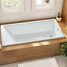nh 005 deep built in cast iron bathtub thick enameled coating