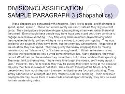 classification and division essay example co classification and division essay example how to write division classification