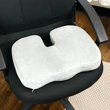 cooling seat cushion for office chair pad gel lumbar pillow and car cushions leg pads white
