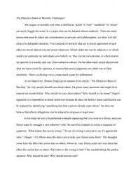 the objective basis of morality challenged essay zoom