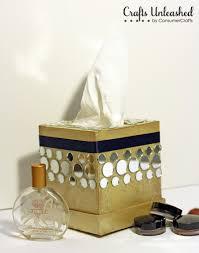 mirrored tissue box holder