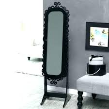 stand up mirror jewelry armoire home ideas standing mirror incredible stand jewelry black within