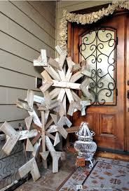 oversized reclaimed wood decorative snowflake