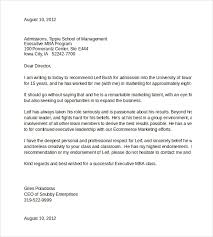 MS Word Document for College Admissions Reference Letter Template