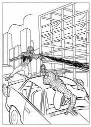 Peter parker, a child and a truck. Spiderman Coloring Pages Coloringpagesonly Com