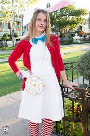 diy white rabbit from alice in wonderland costume new alice bag sewing pattern the polka dot chair