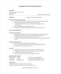 Functional Resumes Samples Functional Resume Sample 9 Examples In