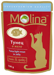 Корм для кошек <b>Molina Пауч</b> для кошек Тунец в желе (0.1 кг) 1 шт ...
