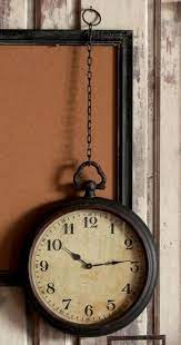 vintage style hanging pocket watch wall