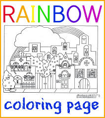 If you want rainbow picture for coloring yourself then. Rainbow Coloring Page