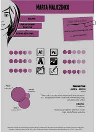 cv layouts marta czenko