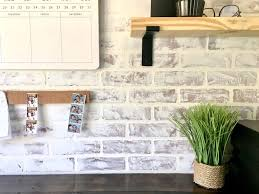diy faux brick wall a super easy wall