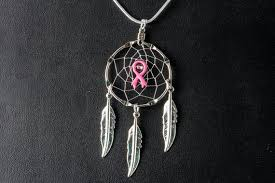 Breast Cancer Dream Catcher Unique Breast Cancer Awareness Dream Catcher Necklace With A Pink Etsy
