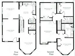 2 story townhouse plans 2 story 4 bedroom house floor plan striking inside glorious four bedroom