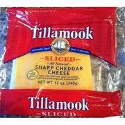 tillamook sharp cheddar cheese sliced nutrition