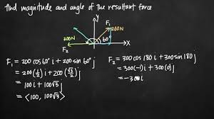 magnitude and angle of the resultant force (kristakingmath) youtube  Krista Conversation F450 Wiring Diagram #36