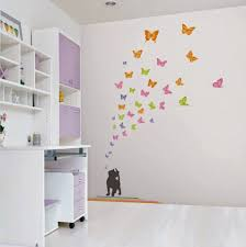 Kids Bedroom Wall Decor Awesome Butterfly Wall Decoration Butterfly Themes For Interior